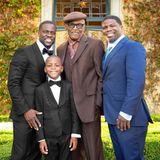 Zum Vatertag erfreut Comedian Kevin Hart seine Fans mit einem Gruppenfoto. Darauf zu sehen ist sein Vater Henry Robert Witherspoon (mitte) und BruderRobert Hart (rechts).