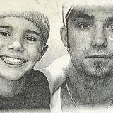 """Justin Bieber teilt ein liebevolles Foto von sich und seinem VaterJeremy Bieber und versieht es kurz und knapp mit dem Wort: """"Dad""""."""