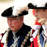 18. Juni 2018  Prinz Charles und sein Sohn Prinz William zählen zum Orden.