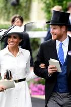 Sind der Hingucker des Tages in Ascot: Herzogin Meghan und Prinz Harry