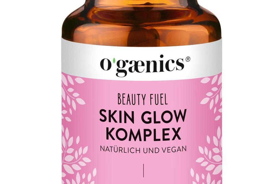 """Anti- Aging-Pflege zum Schlucken """"Beauty Fuel Skin Glow Komplex""""von Ogaenics, 60 Stück, ca. 60 Euro"""