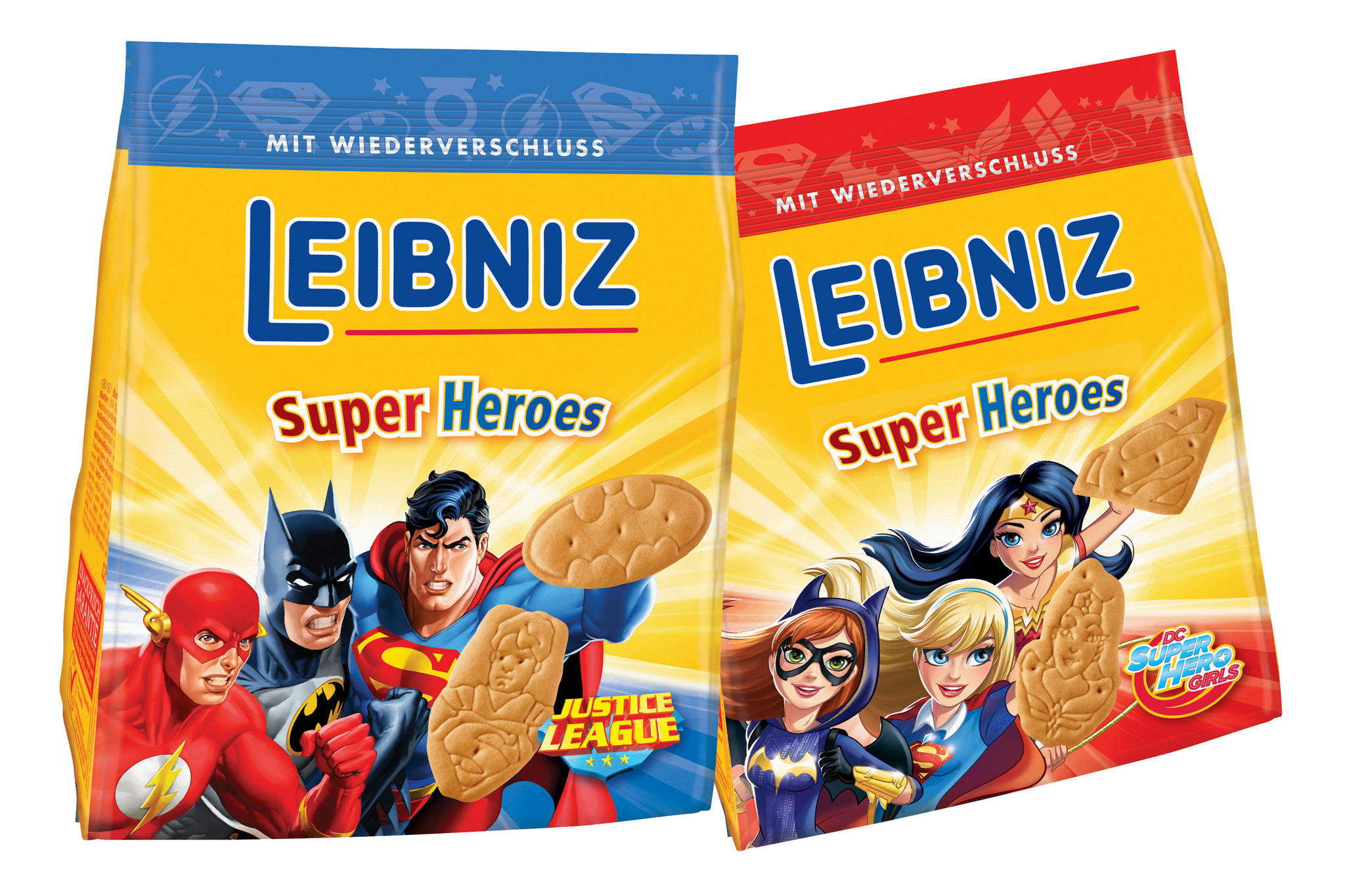 Ob nun Wonder Woman oder aber Batman - die bekannten Kekse von Leibniz gibt es jetzt im heldenhaften Look.