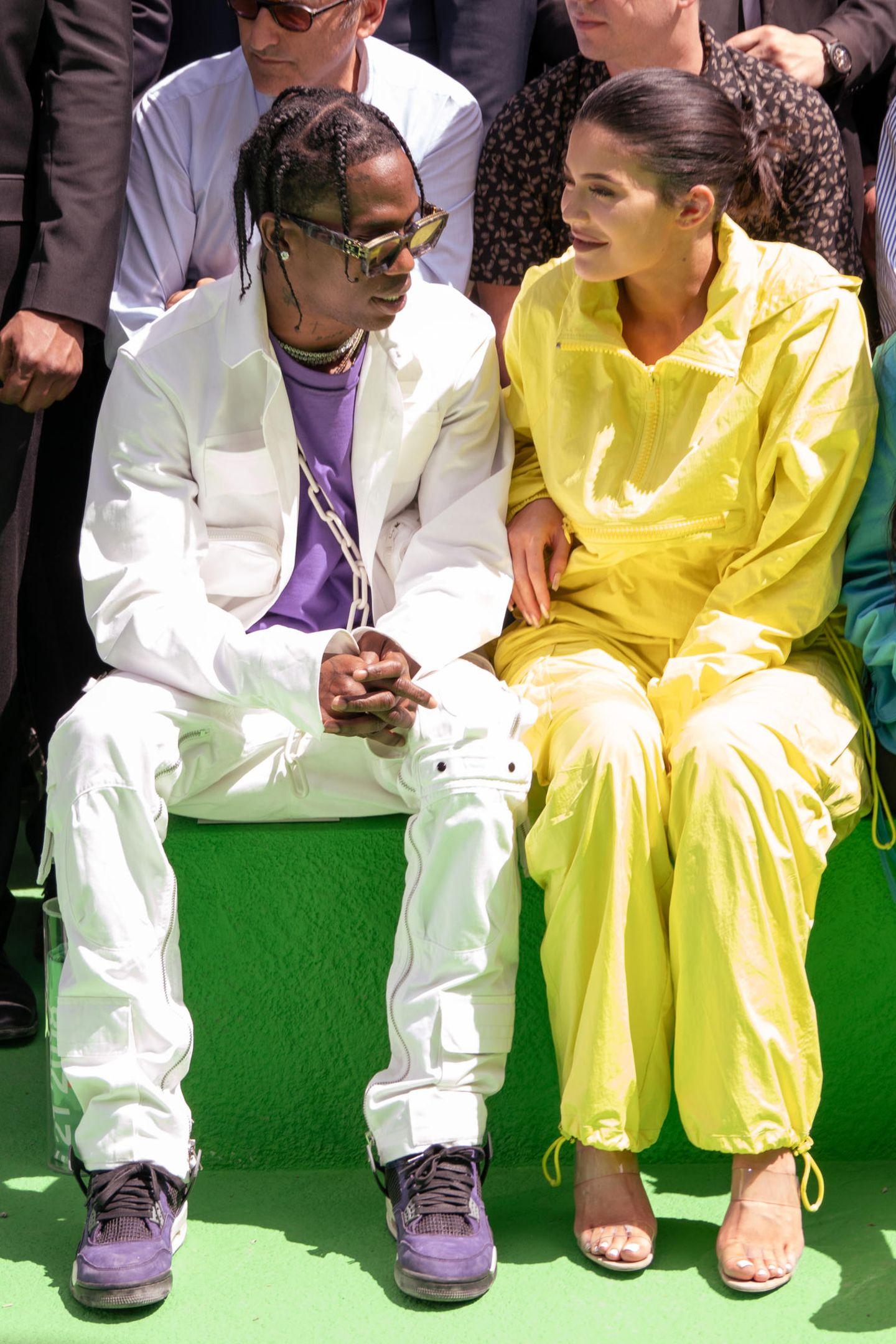 Blouson-Style mal zwei: Travis Scott und Kylie Jenner