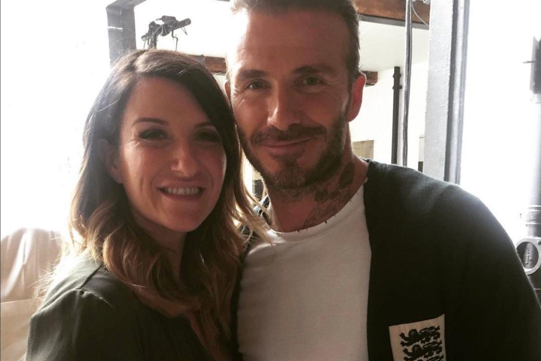 David Beckham und seine Schwester Joanne.