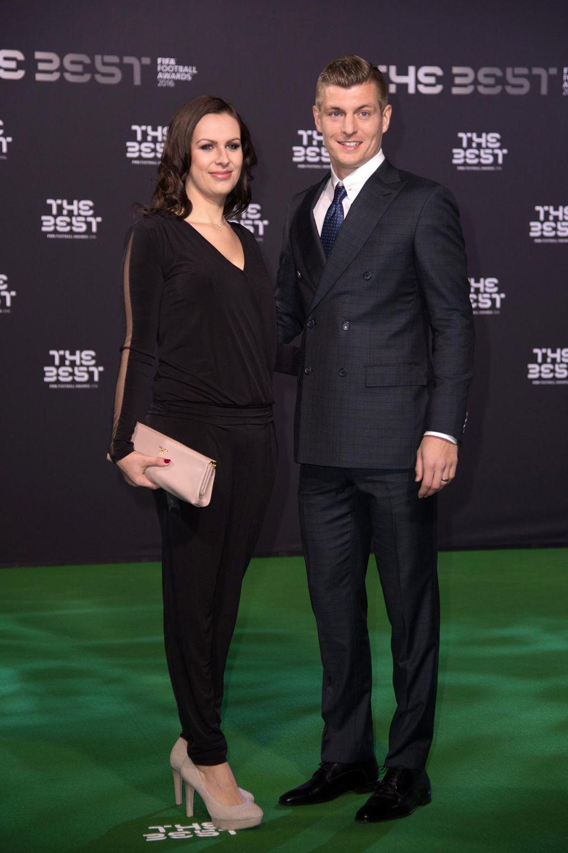 """Jessica und Toni Kroos bei den""""Best FIFA Football Awards"""" im Januar 2017 in Zürich."""