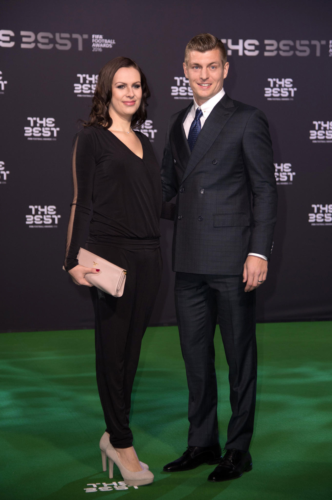 "Jessica und Toni Kroos bei den ""Best FIFA Football Awards"" im Januar 2017 in Zürich."
