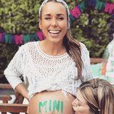 Bei ihrer Babyshower-Party präsentiertAnnemarie Carpendale ihre XXL-Babykugel. Knapp zwei Wochen später erblickte ihr Sohn das Licht der Welt.
