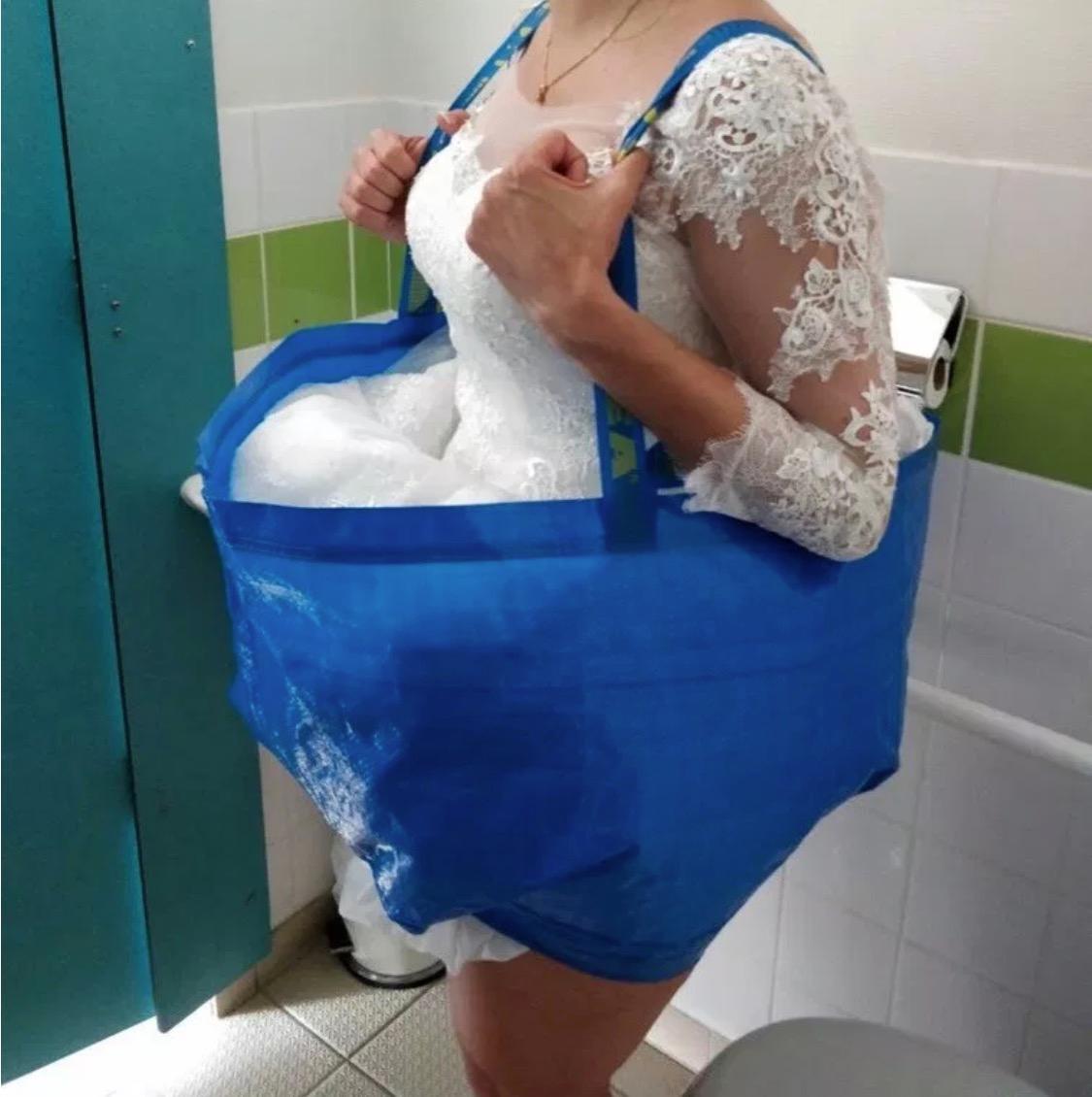 AuBergewohnlich Braut In Ikea Tasche