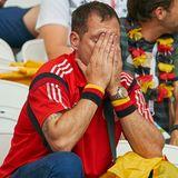 Mit einer 0:2 Niederlage gegen Südkorea hat dieser Fan ganz sicher nicht gerechnet.