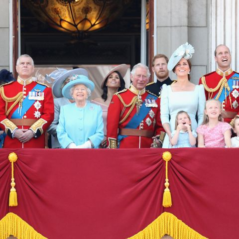 Die Royals bei der Trooping the Colour Parade Anfang Juni