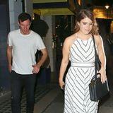 So geht Partnerlook royal! Prinzessin Eugenie und ihr Verlobter Jack Brooksbank sind im sommerlichen Schwarz-Weiß-Look zum Dinner-Date im Londoner Luxus-Viertel Mayfair verabredet.