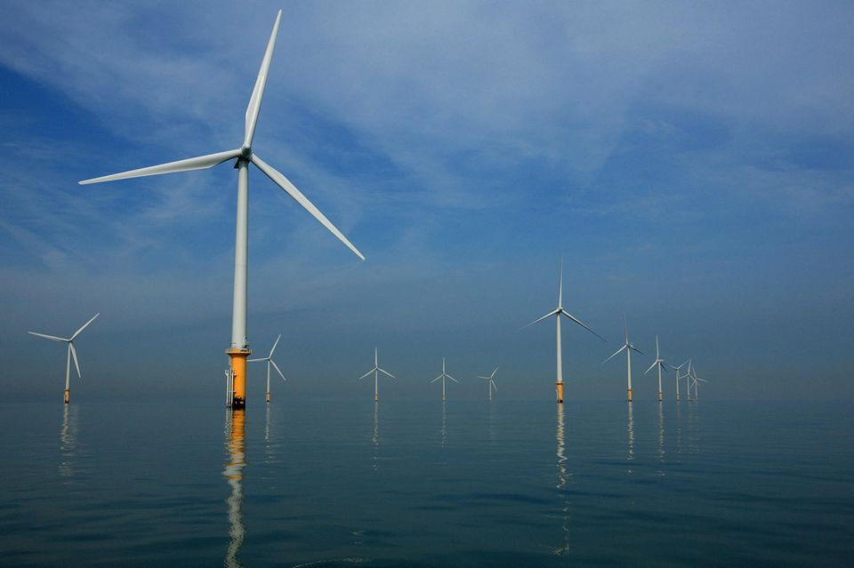 Windpark in Liverpool, England