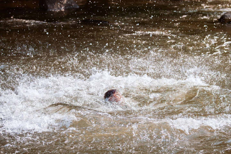 Junge im Fluss (Symbolbild)