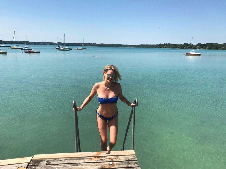 """""""Dankbar 41 Jahre, gesund, glücklich und zufrieden zu sein!"""", schreibt Model und Moderatorin Monica Meier-Ivancan zu diesem Bikini-Schnappschuss auf Instagram. Für einen solchen Traumkörper wäre die ein oder andere Betrachterin nebenbei bemerkt sicherlich auch mehr als dankbar ..."""