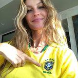 Gisele Bündchen freut sich riesig über das bisher gute Abschneiden ihres Landes Brasilien.