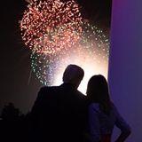 4. Juli 2018  Kein Unabhängigkeitstag ohne Feuerwerk: Donald und Melania Trump schauen sich das Farbenspiel am Himmel vom Balkon des Weißen Hauses an.