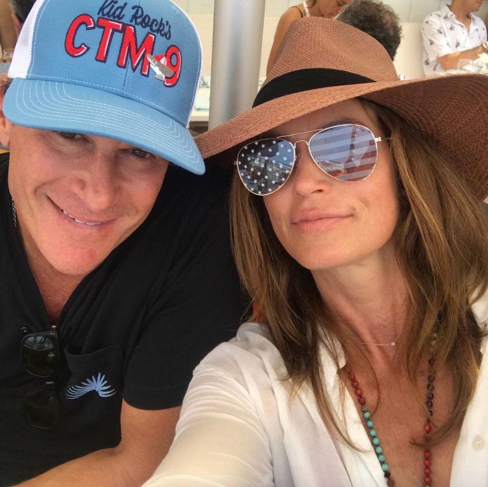 Rande Gerber und seine Frau Cindy Crawford grüßen zum Independence Day.