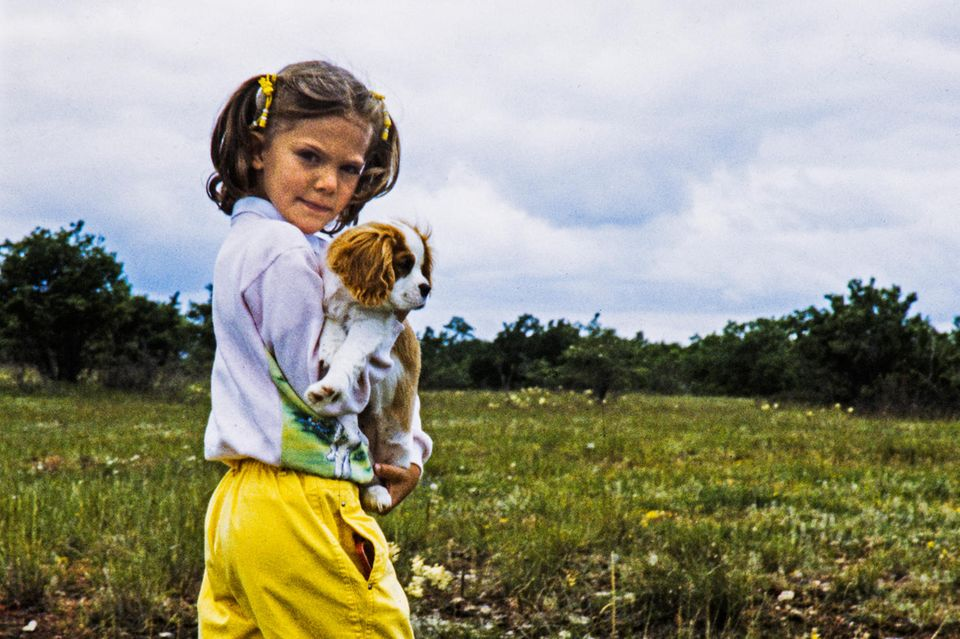 Prinzessin Victoria kennt die Insel Öland seit ihrer Kindheit: Das Foto zeigt sie als Achtjährige auf der Insel.
