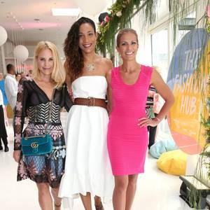 Drei Grazien beim Fashion Hub: Sonja Kiefer, Annabelle Mandeng und Kerstin Linnartz