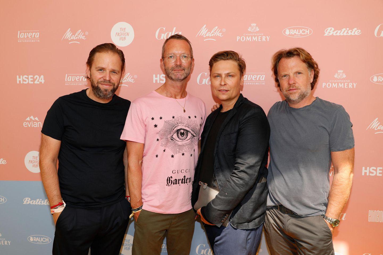 Jens Winterbauer, GALA-Modechef Marcus Luft, DesignerDawid Tomaszewski und Marc Lehr