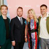 G+J-Vermarktungschef Frank Vogel, Bastian Ammelounx, Astrid Bleeker und Branko Presic