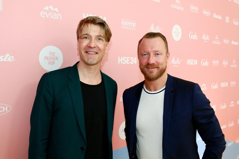 G+J-Vermarktungschef Frank Vogel und Peter Breiling (HSE24)