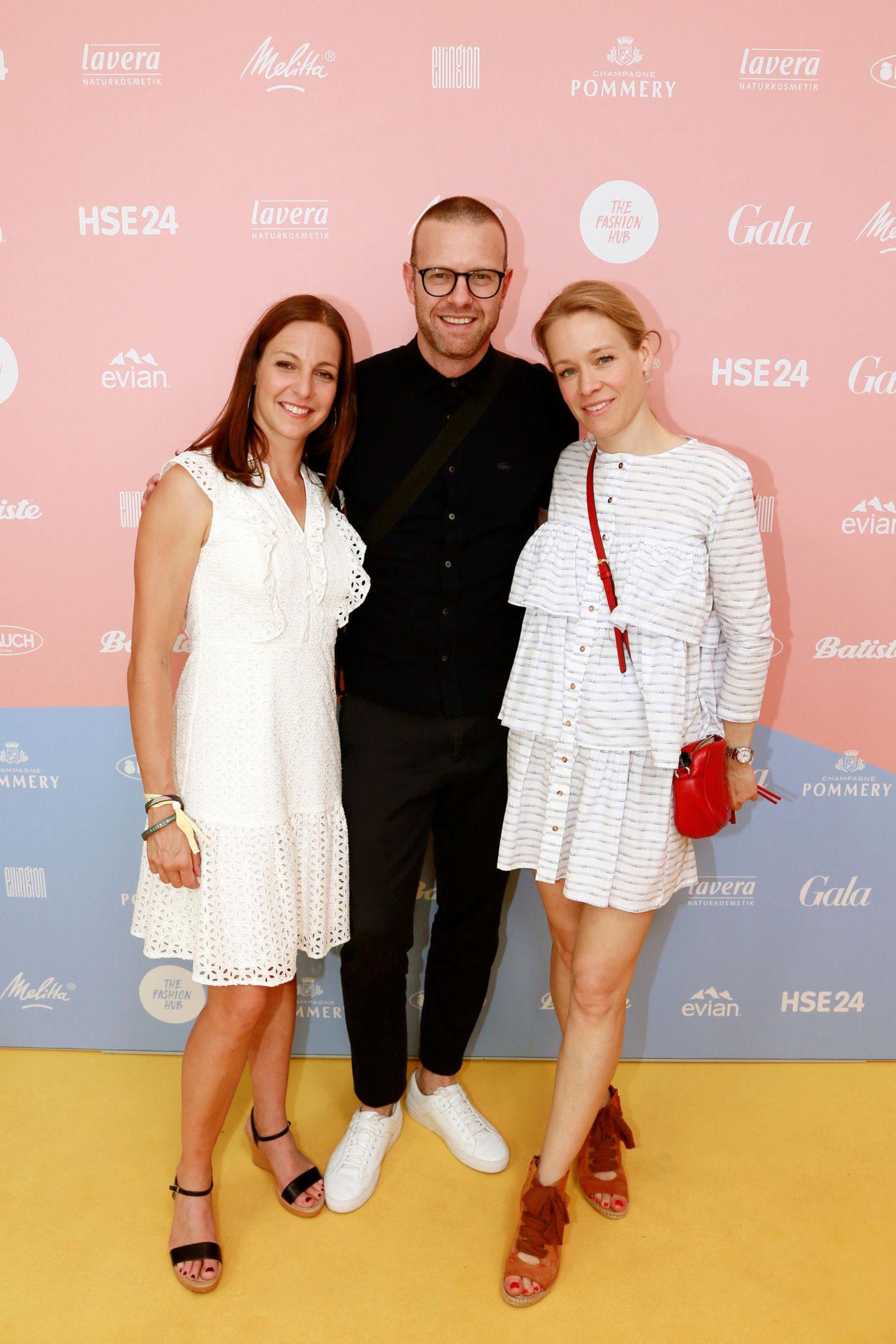 Nina Engelke (Comma),Sandro Schramm (s.Oliver) und Kristina Logemann (Peek&Cloppenburg Düsseldorf)