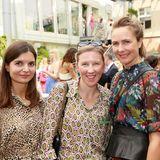 Irina Schulz, Michaela Luise Stein (Coty) und Nadine Eger (Oui)
