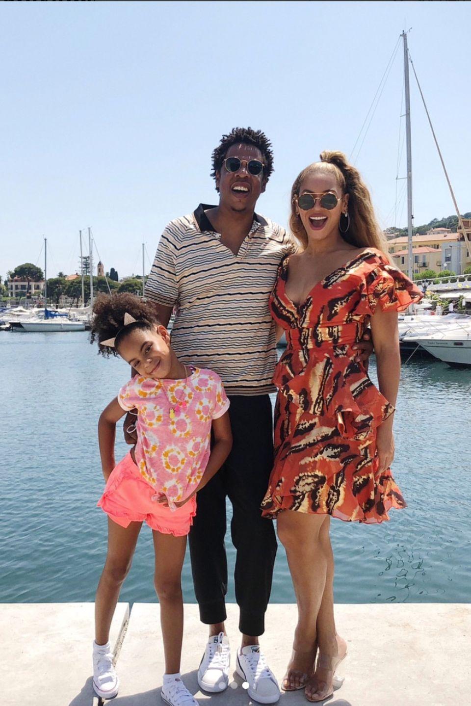 Jay-Z und Beyoncé mit Töchterchen Blue Ivy