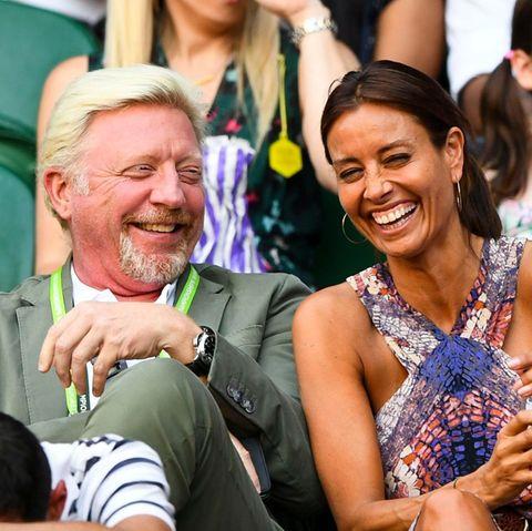 Boris Becker hat Spaß mit Moderatorin Melanie Sykes