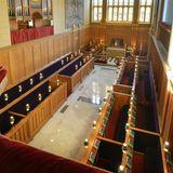 """Ein Blick auf das Innere der historischen""""Chapel Royal"""" im """"St. James's Palace""""."""
