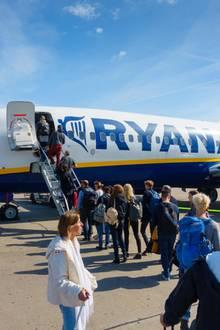 Eine Maschine der Fluggesellschaft Ryanair.