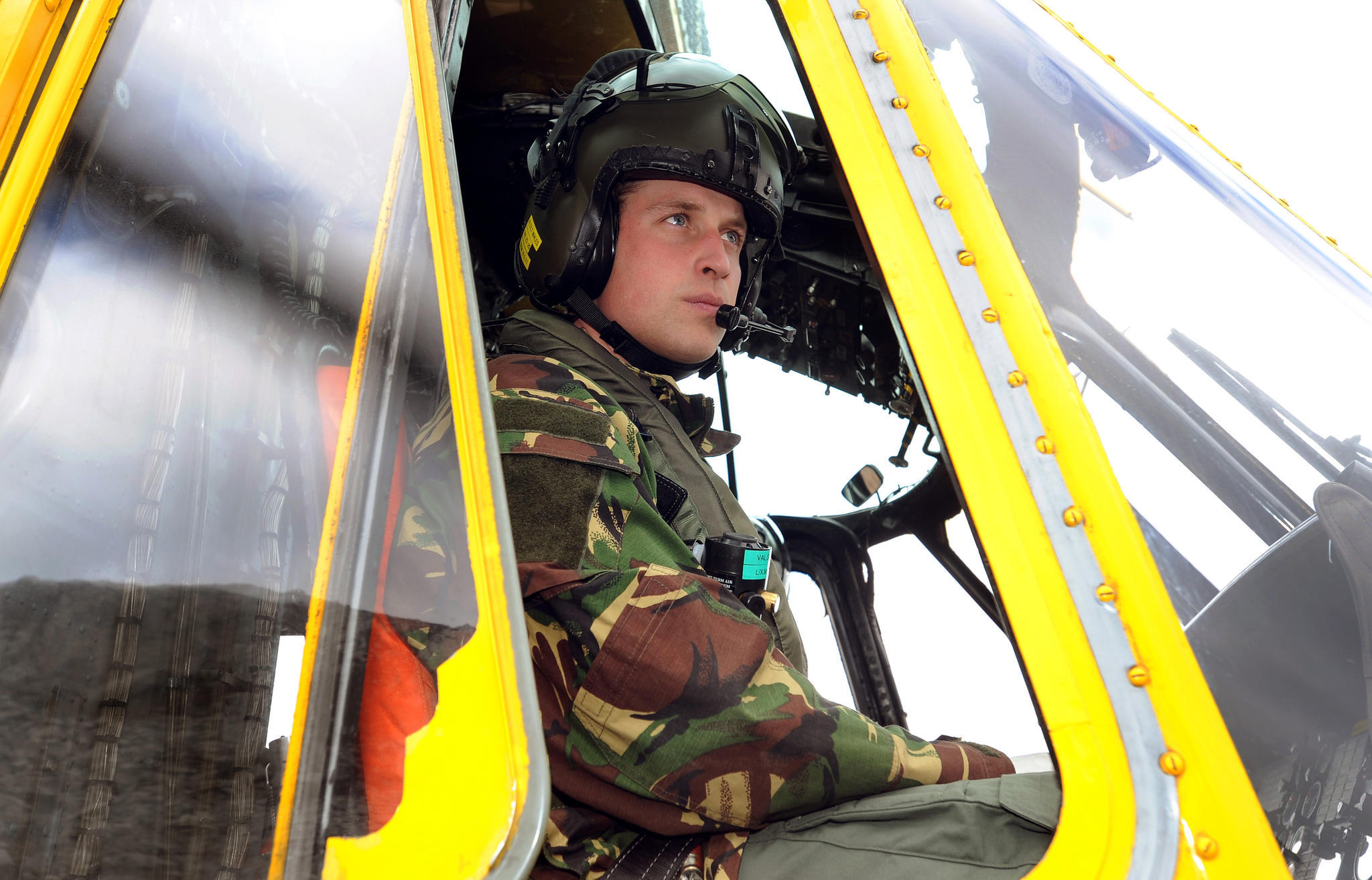 Prinz William im Helikopter-Einsatz für die Royal Air Force.