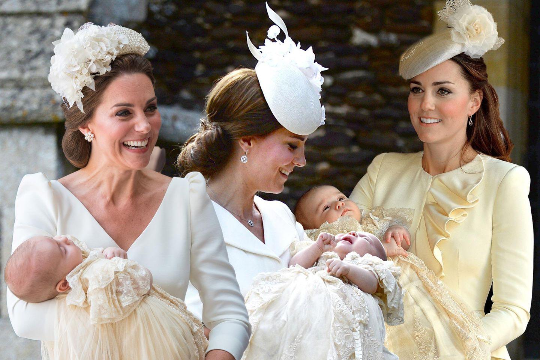 Herzogin Catherine mit ihren Kindern Prinz Louis, Prinzessin Charlotte und Prinz George