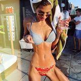 """Ist Ex-GNTM-Kandidatin Lara Helmer etwa zu dünn? Auf Instagram muss die 20-Jährigefür diesen Bikini-Schnappschuss zum Teil harte Kritik einstecken. """"Für junge Kids bist du kein gutes Vorbild"""", lautet ein Kommentar. """"Bisschen sehr dünn... """" schreibt eine andere Userin. Harte Kritik, die für das Nachwuchs-Model sicherlich nicht einfach zu verdauen sind."""
