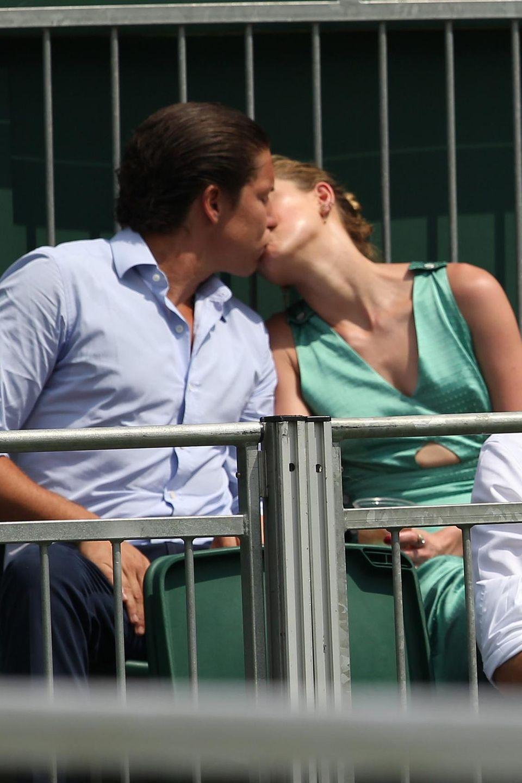 Kunsthändler Vito Schnabel mit Freundin Amber Heard beim Tennisturnier in Wimbledon, 2018