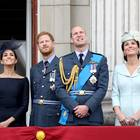 Herzogin Meghan, Prinz Harry, Prinz William und Herzogin Catherine