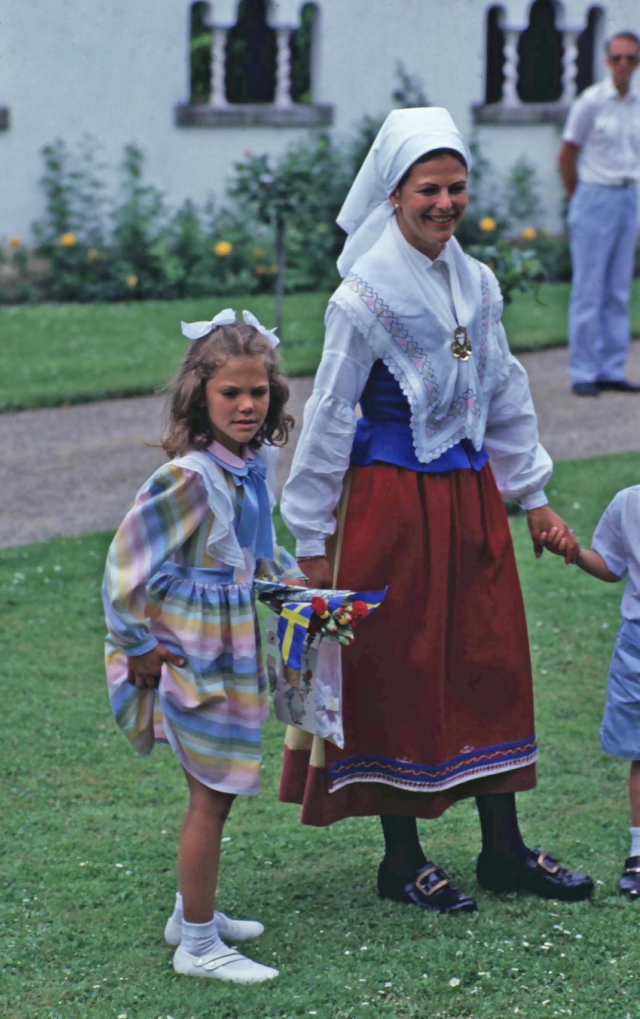 Victoriatag 1985: Prinzessin Victoria feiert ihren 8. Geburtstag auf Öland.