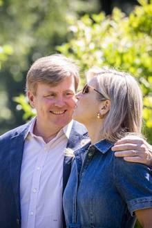 13. Juli 2018  Verliebt wie am ersten Tag: König Willem-Alexander und Königin Máxima während des Sommer-Fototermins.