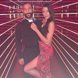"""29. Mai 2018  Bei der RTL-Show """"Let's Dance"""" wo alles begann, post das Paar für ein Instagram-Bild. Auch in diesem Jahr nimmt Massimo Sinato an der Show teil und Rebecca begleitet ihn."""