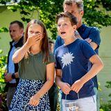 15. Juli 2018  Während die Geschwister Prinzessin Isabella und Prinz Christian sichtlich Spaß haben...