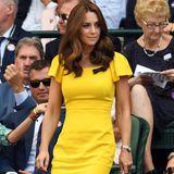 Nur zwei Wochen später wählt auch Herzogin Catherine ein Kleid in Gelb. Viele behaupten sofort: Das hat sie sich bei ihrer Schwägerin abgeguckt. Wir wissen es allerdings besser...
