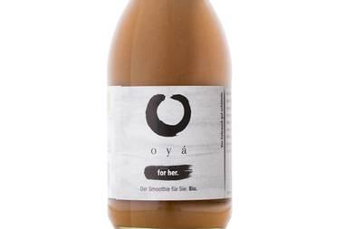 """Haben Sie schon oyá probiert? Die maßgeschneiderten Smoothies gibt es mit speziellen Rezepturen abgestimmt auf die Bedürfnisse für """"sie"""" und """"ihn"""". Die insgesamt zehn Zutaten wandern in Bio-Qualität ins Glas eignen sich perfekt für den gesunden Lifestyle. Achterpack für ca. 23 Euro."""