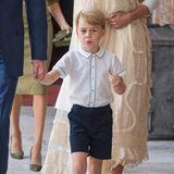 9. Juli 2018  Der kleine Frechdachs Prinz George bei der Taufe seines Bruders Prinz Louis.