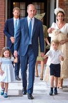 William, Kate, Charlotte, George zur Taufe von Louis