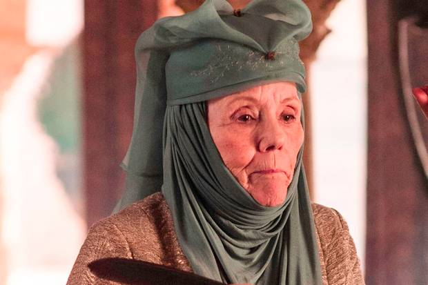 "Diana Rigg alias Lady Olenna Tyrell in ""Game of Thrones"""