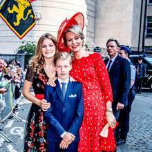 Prinzessin Elisabeth, PrinzPrinz Emmanuel + Königin Mathilde