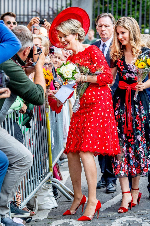 Königin Mathilde + Prinzessin Elisabeth