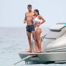 Kleine Abkühlung gefällig: Grigor Dimitrov und Nicole Scherzinger im Urlaub