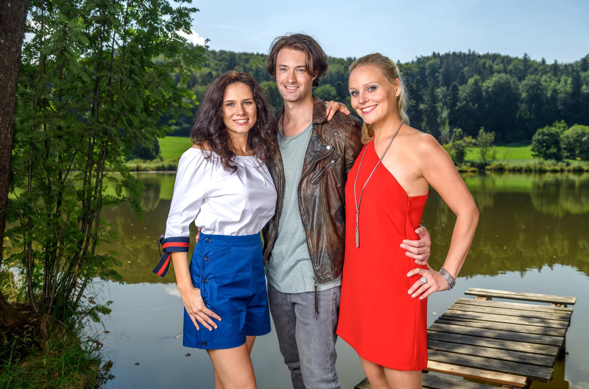 """Das neue Trio bei """"Sturm der Liebe"""":Julian Schneider, Helen Barke und Jenny Löffler"""
